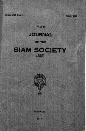 The Journal of the Siam Society Vol. LVII, Part 1-2, 1969 - Khamkoo