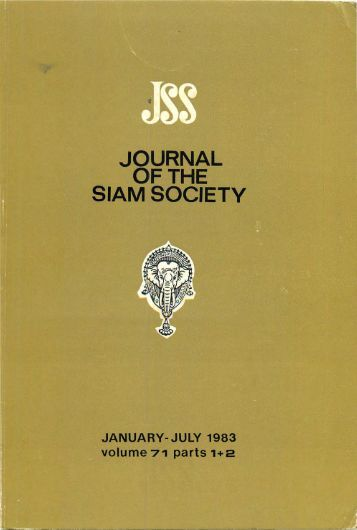The Journal of the Siam Society Vol. LXXI, Part 1-2, 1983 - Khamkoo
