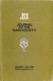 The Journal of the Siam Society Vol. LXIX, Part 1-2, 1981 - Khamkoo