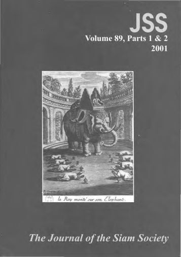 The Journal of the Siam Society Vol. LXXXIX, Part 1-2 ... - Khamkoo
