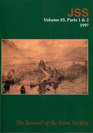 The Journal of the Siam Society Vol. LXXXV, Part 1-2, 1997 - Khamkoo