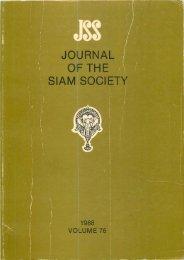 The Journal of the Siam Society Vol. LXXVI, Part 1-2, 1988 - Khamkoo