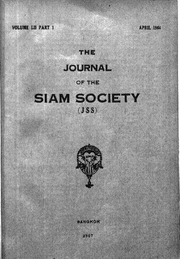The Journal of the Siam Society Vol. LII, Part 1-2, 1964 - Khamkoo