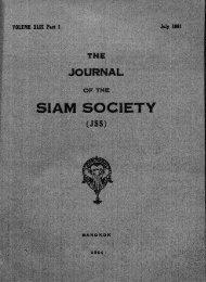 The Journal of the Siam Society Vol. XLIX, Part 1-2, 1961 - Khamkoo
