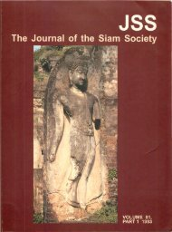 The Journal of the Siam Society Vol. LXXXI, Part 1-2, 1993 - Khamkoo