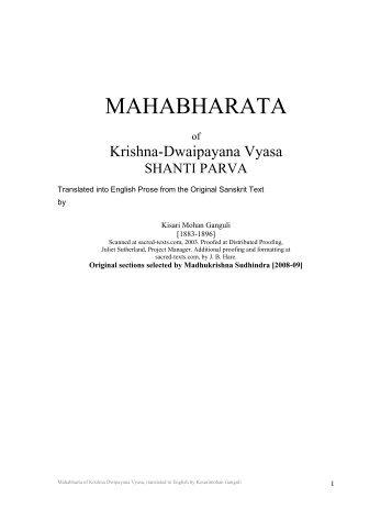 The Mahabharata of Krishna-Dwaipayana Vyasa - Khamkoo