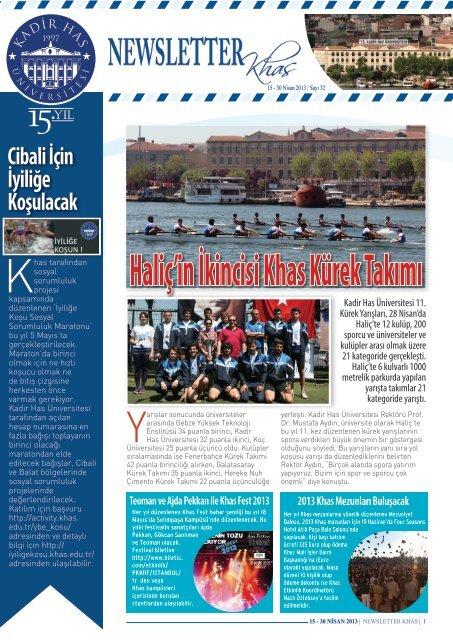Haliç'in İkincisi Khas Kürek Takımı - Kadir Has Üniversitesi