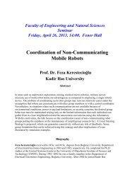 Coordination of Non-Communicating Mobile Robots - Kadir Has ...