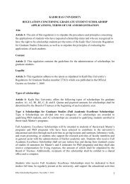 kadir has university regulation concerning graduate student