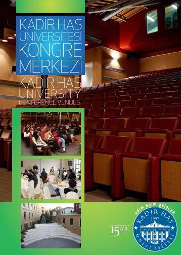 Kadir Has Kongre Merkezi Kataloğu - Kadir Has Üniversitesi