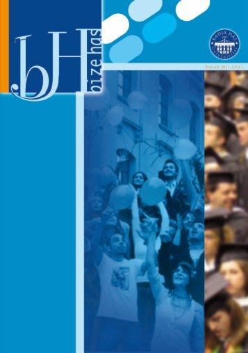 Bahar 2011 Sayı 1 - Kadir Has Üniversitesi