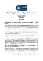 """The Evolving Wider Black Sea Region Security Context"" - Kadir Has ..."
