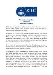 Celebrating Europe Day 9 May 2013 Kadir Has University