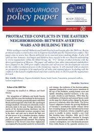 protracted conflicts in the eastern neighborhood - Kadir Has ...
