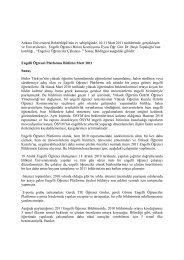 Engelli Öğrenci Platformu Bildirisi Mart 2011 - Kadir Has Üniversitesi
