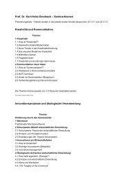Prof. Dr. Karl-Heinz Brodbeck – Seminarthemen Kreativität und ...