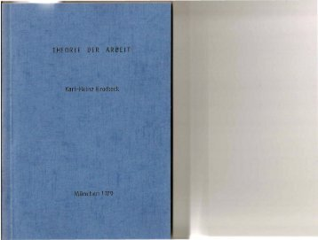 Theorie der Arbeit (1979)