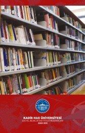 Sosyal Bilimler Enstitüsü Kataloğu... - Kadir Has Üniversitesi