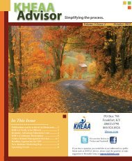 Volume 3 Issue 1 October 2011 - KHEAA