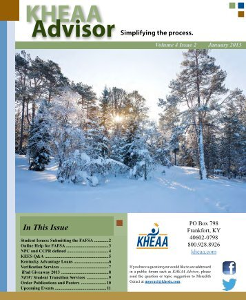 Volume 4 Issue 2 - January–March 2013 - KHEAA