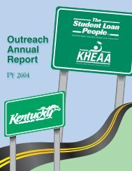 FY04 Outreach report.indd - KHEAA