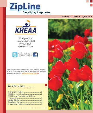 Volume 1 Issue 3 April 2010 - KHEAA