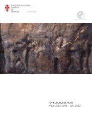 forschungsbericht november 2008 – juli 2012 - Kunsthistorisches ...