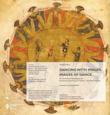 dancing with images images of dance - Kunsthistorisches Institut in ...