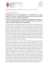 Comunicato Stampa 22 aprile 2013 (pdf) - Kunsthistorisches Institut ...
