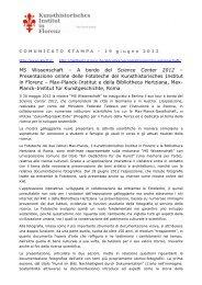 Comunicato Stampa 19 giugno 2012 (pdf) - Kunsthistorisches ...