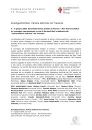 Comunicato Stampa 25 maggio 2009 (pdf) - Kunsthistorisches ...