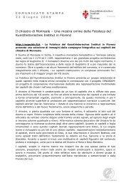 Comunicato Stampa 22 giugno 2009 (pdf) - Kunsthistorisches ...