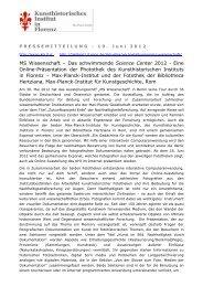 KHI_Pressemitteilung_MS Wissenschaft - Kunsthistorisches Institut ...