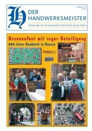 Der Handwerksmeister Ausgabe Nr. 12 1/2013