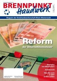der Unternehmenssteuer - Kreishandwerkerschaft Rhein-Westerwald