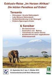 Tansania & Sansibar - Kreishandwerkerschaft Rhein-Westerwald