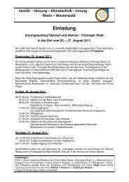 20110131 Programm SHK - Kreishandwerkerschaft Rhein-Westerwald