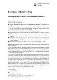 Berufsausbildungsvertrag - Handwerkskammer Koblenz