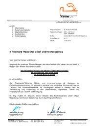 3. Rheinland-Pfälzischer Möbel- und Innenausbautag