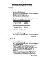 Benötigte Unterlagen für die Beantragung einer ...
