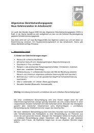Merkblatt des BWHT zum Allgemeinen Gleichbehandlungsgesetz