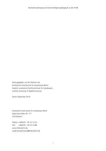 Modulhandbuch ab WS 2010/11 - KHSB