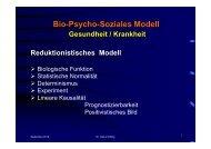 Heinz Wilfing bio psycho soziales Modell - KHSB