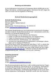 Zentrale Studienberatung - KHSB