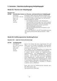 Lehrveranstaltungen im Wintersemester 2005/2006 - KHSB