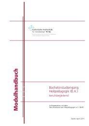 Immatrikulation ab SoSe 2011 - KHSB
