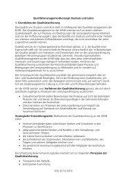 Qualitätsmanagementkonzept 22.10.2010 - KHSB