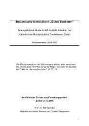 Forschungsbericht Studentische Identität - KHSB