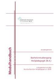 Immatrikulation ab WiSe 2013/14 - KHSB
