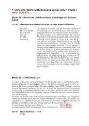 1. Semester / Bachelorstudiengang Soziale Arbeit (reakk.) - KHSB